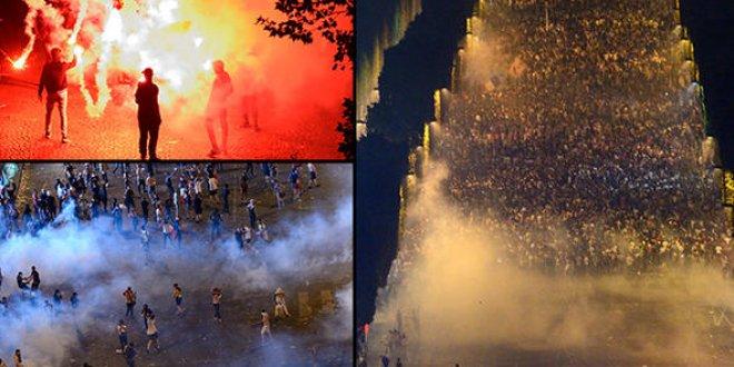 Kupayı kaldıran Fransa'da sokaklar karıştı