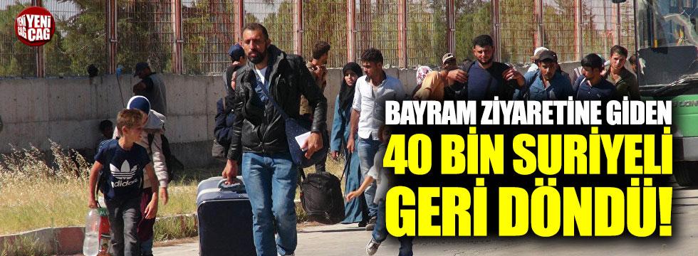 Bayramı ziyaretine giden 40 bin Suriyeli geri döndü