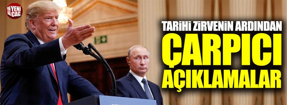 Trump ve Putin görüşmesinin ardından ilk açıklama
