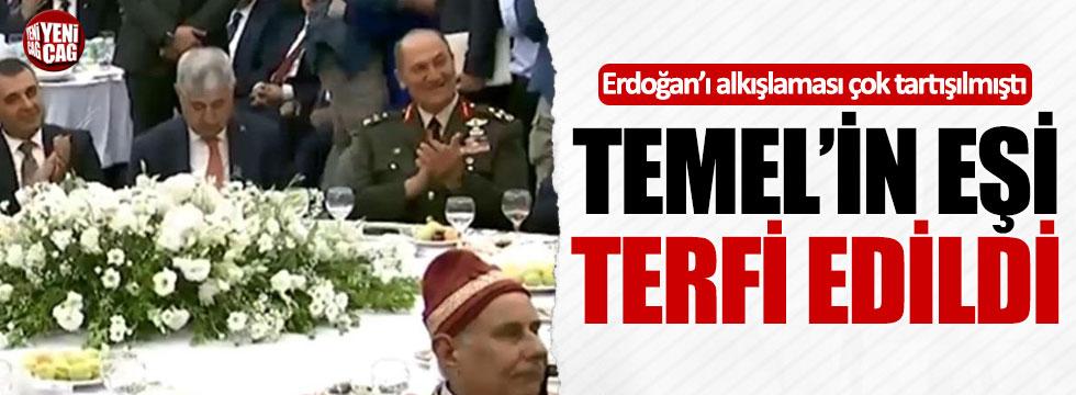 Erdoğan'ı alkışlayan paşanın eşine terfi!