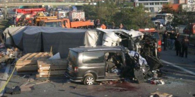 İstanbul'da TEM otoyolunda kaza