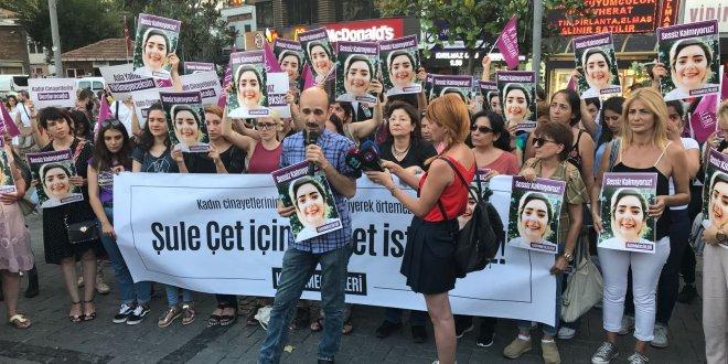 """Beşiktaş'ta """"Şule için adalet"""" eylemi"""