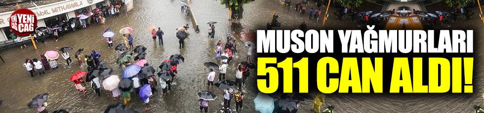 Muson yağmurları 511 can aldı