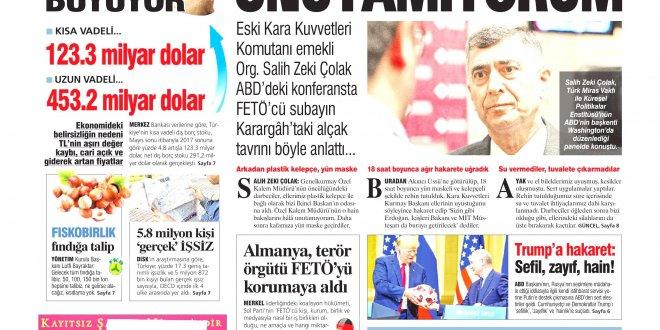 Günün Ulusal Gazete Manşetleri - 18 07 2018