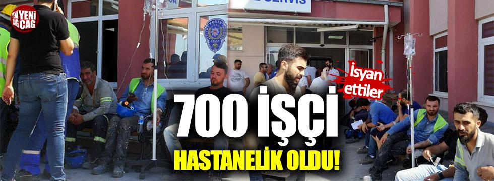 700 işçi hastanelik oldu!