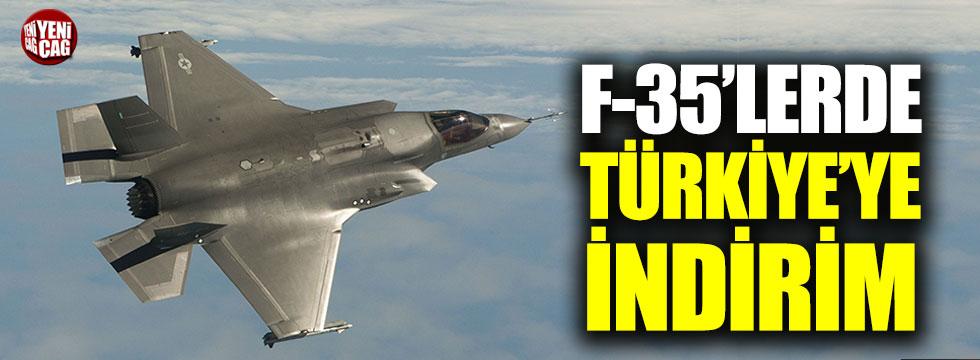F-35 uçaklarında Türkiye'ye indirim