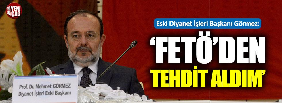 Diyanet İşleri eski Başkanı Görmez'den FETÖ açıklaması