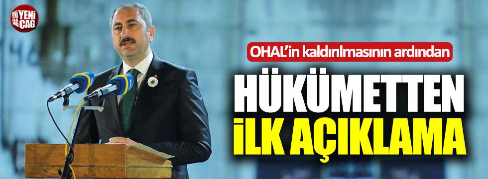 OHAL'in kaldırılmasının ardından Gül'den ilk açıklama