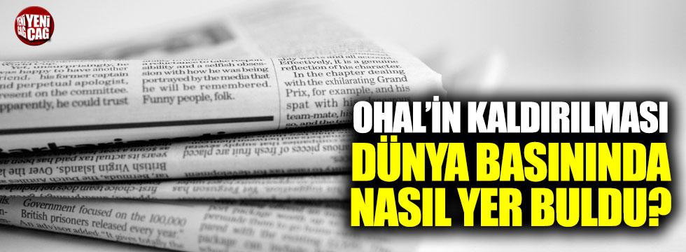 OHAL'in kaldırılması dünya basınında