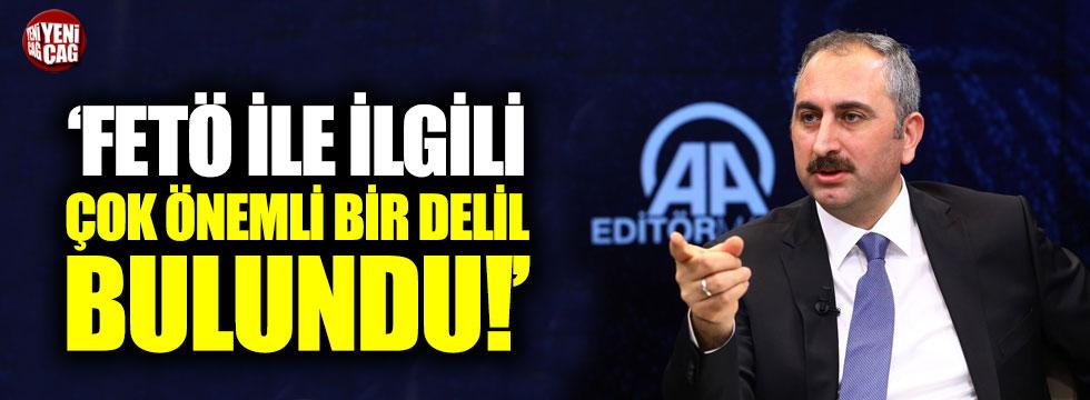 """Bakan Gül: """"FETÖ ile ilgili çok önemli bir delil bulundu"""""""