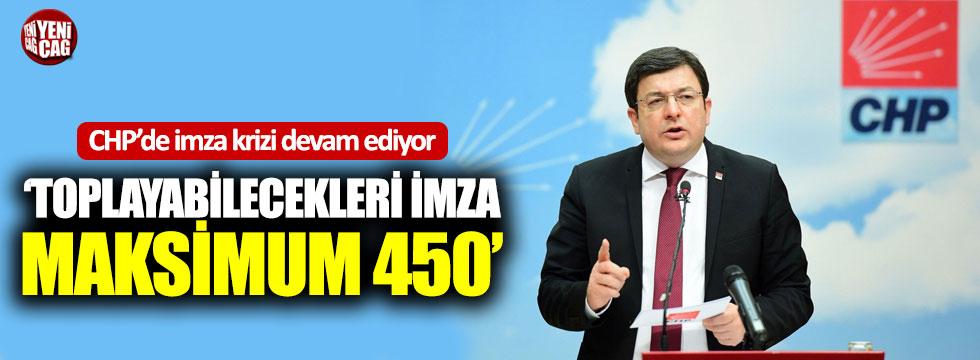 """CHP'li Erkek: """"Toplayabilecekleri imza maksimum 450"""""""