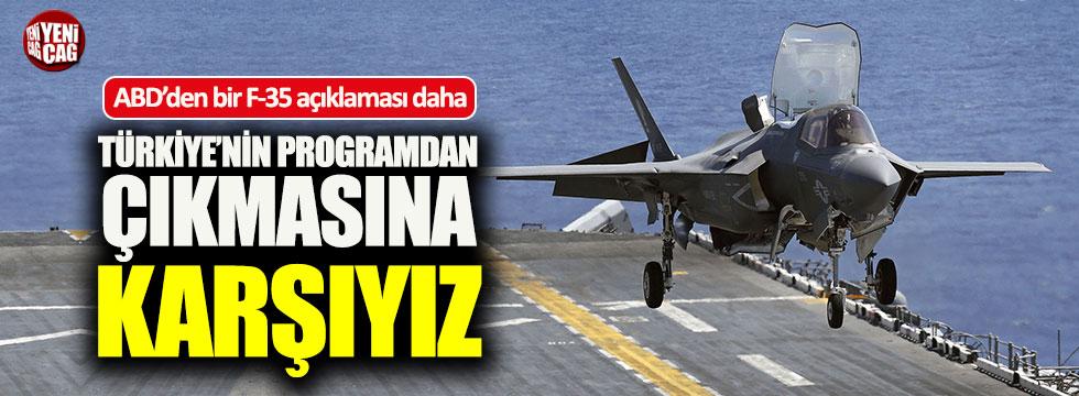 """ABD'den F-35 açıklaması: """"Türkiye'nin programdan çıkmasına..."""""""