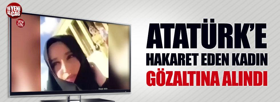 Atatürk'e hakaret eden Safiye İnci gözaltına alındı!