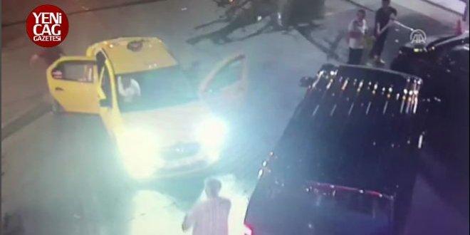 Taksiciden UBER sürücüsüne sopalı tehdit!
