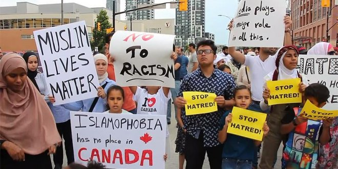 Kanada'da İslamofobi protestosu