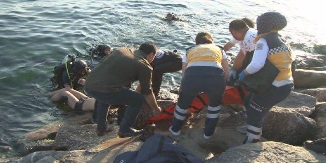 Kartal'da denize giren bir kişi kayboldu