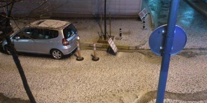 İstanbul'da dolu yağışı başladı