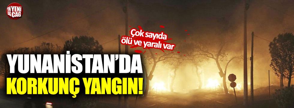 Yunanistan'da korkunç yangın!