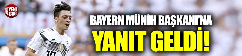 Mesut'un menajerinden Bayern Münih Başkanı'na yanıt