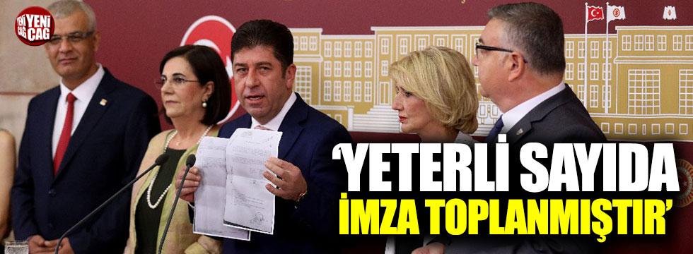 CHP'li Tüzün: Kurultay için yeterli imza toplandı