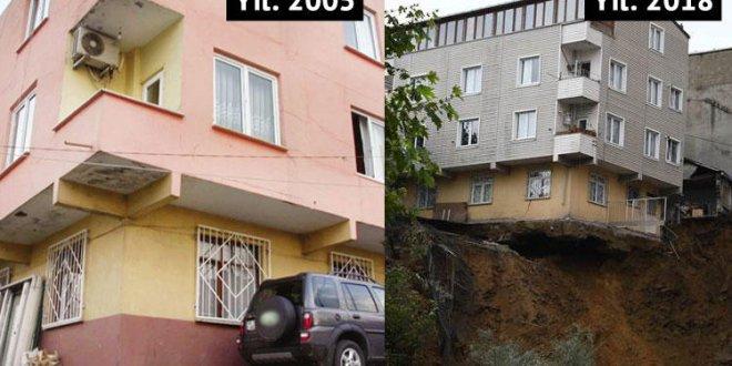 Beyoğlun'daki çöken binada kat ayrıntısı!