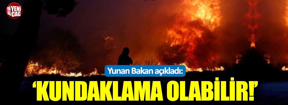 Yunan Bakan'dan yangın açıklaması