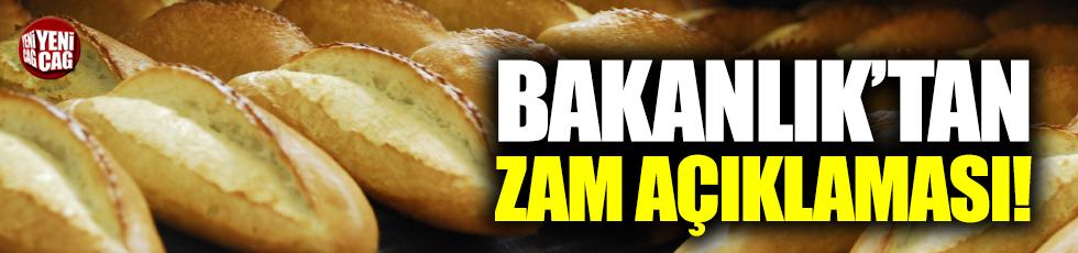 Bakanlık'tan ekmek zammı açıklaması
