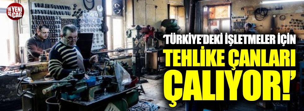 """""""Türkiye'deki işletmeler için tehlike çanları çalıyor"""""""