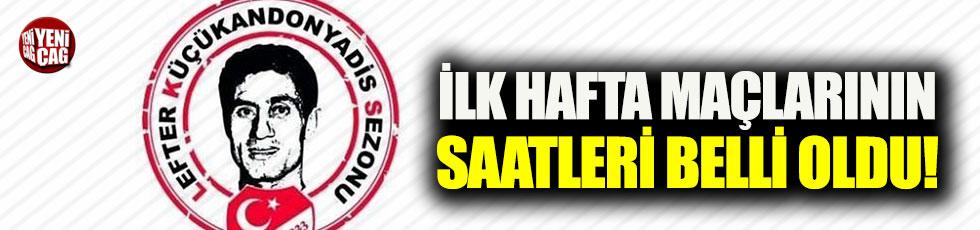 Spor Toto Süper Lig ilk hafta programı açıklandı!