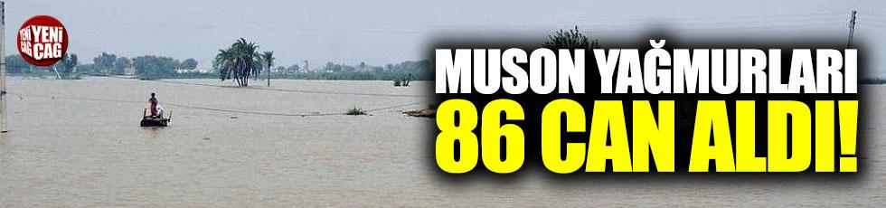 Muson yağmurları 86 can aldı!