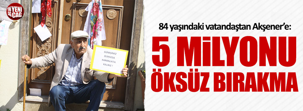 84 yaşındaki adam Akşener için Sivas'tan geldi