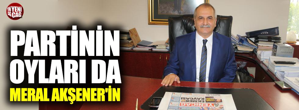 """İYİ Partili Ahmet Çelik: """"Partinin oyları da Meral Akşener'in"""""""
