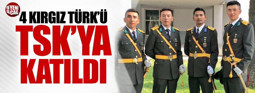 4 Kırgız Türk'ü TSK'ya katıldı