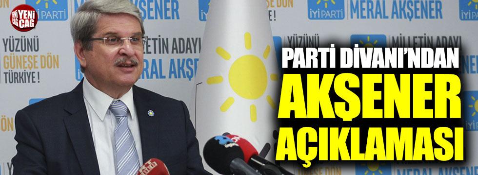 İYİ Partili Aytun Çıray'dan toplantının ardından ilk açıklama