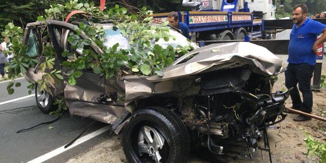 Ayder Yaylası yolunda kaza
