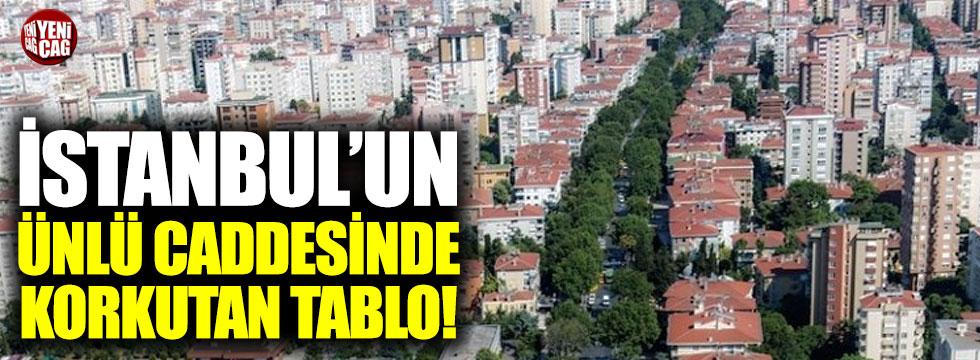 İstanbul'un ünlü caddesinde korkutan tablo!