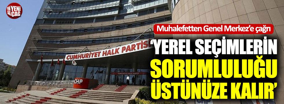 CHP'de muhalefetten Genel Merkez'e çağrı
