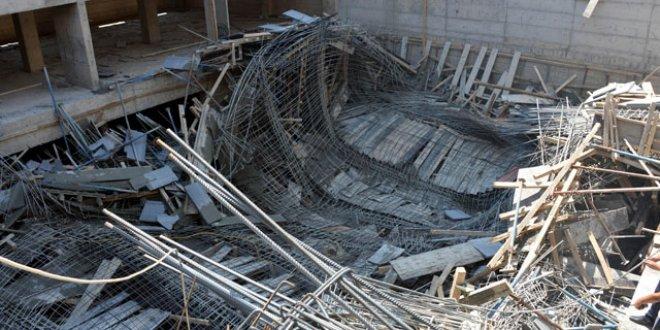 Kahramanmaraş'ta inşaatta göçük: 3 işçi yaralı