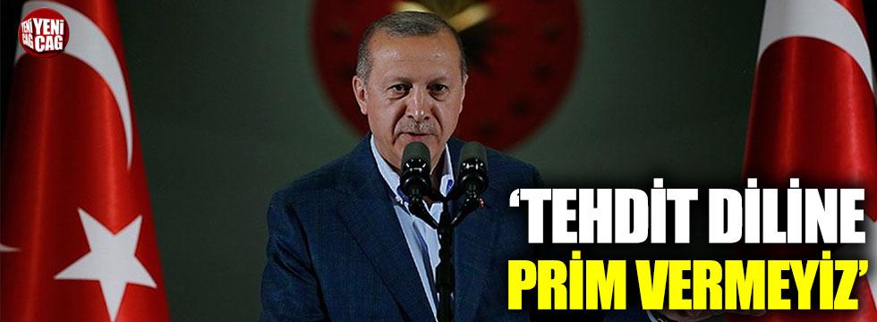 Cumhurbaşkanı Erdoğan'dan ABD açıklaması