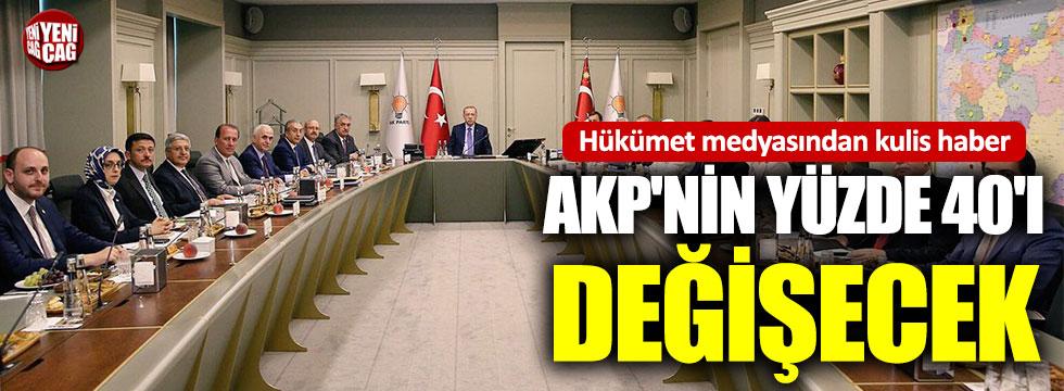 """""""AKP'de MYK'nın yüzde 40'ı değişecek"""""""