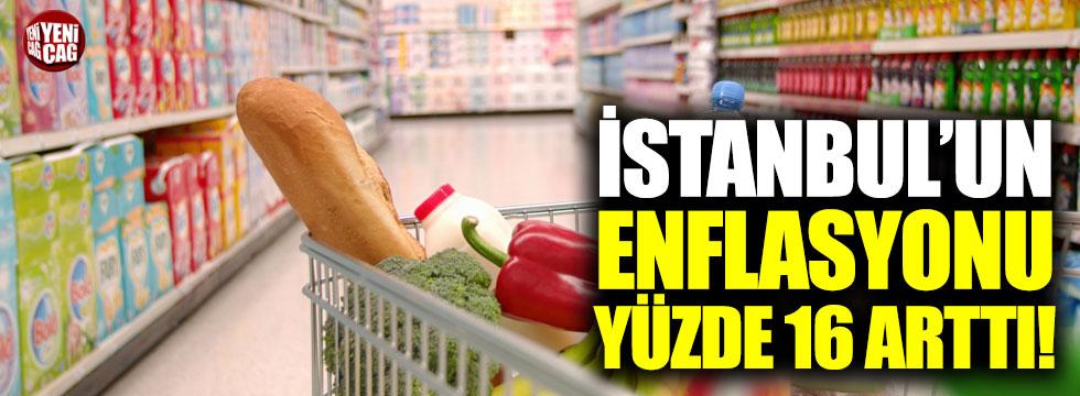 İstanbul'un enflasyonu yüzde 16 arttı!