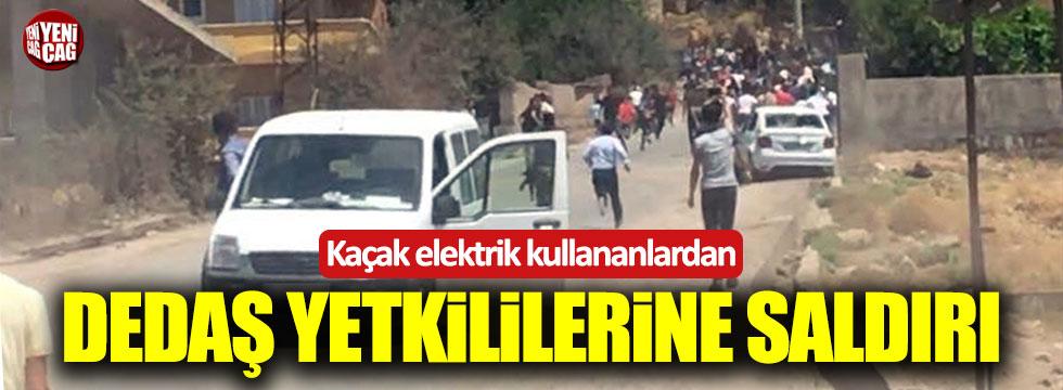 Şırnak'ta kaçak elektrik kullananlar DEDAŞ yetkililerine saldırdı