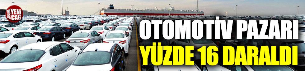 Otomotiv pazarı yüzde 16 daraldı