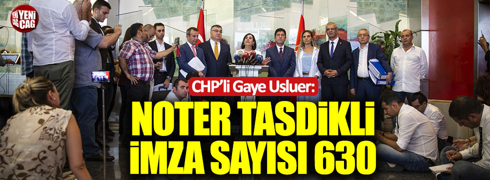 CHP'de muhalifler imzaları teslim etti