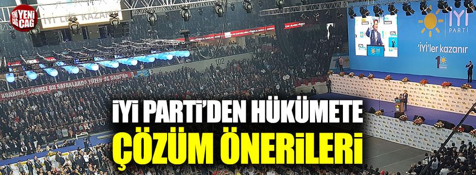 İYİ Parti'den hükümete çözüm önerileri