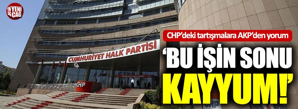 CHP'deki kurultay tartışmalarına AKP'den yorum