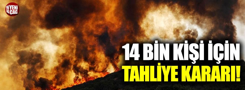 Sönmeyen yangın yüzünden 14 bin kişi için tahliye kararı