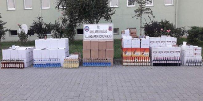 Kırklareli'de 1 ton kaçak içki ele geçirildi