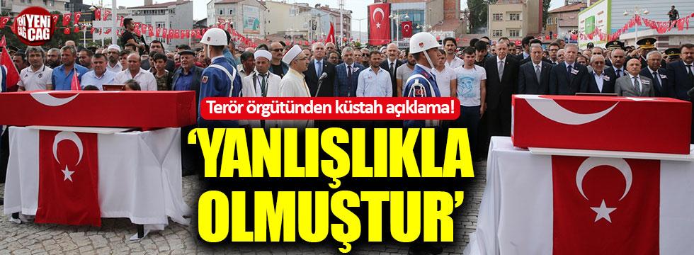 """PKK'dan küstah açıklama: """"Yanlışlıkla olmuştur"""""""