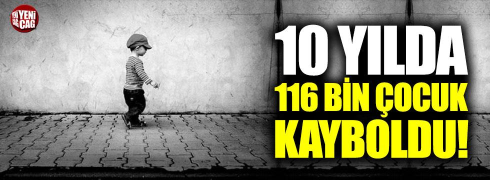 10 yılda 116 bin çocuk kayboldu!